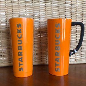 STARBUCKS | 2016 for TWO Orange Tumblers
